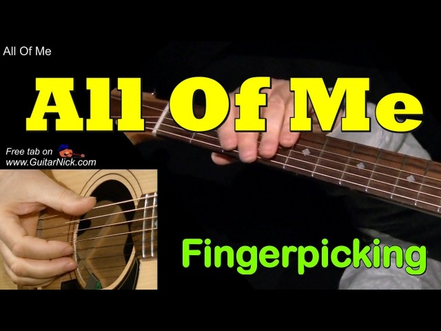 ALL OF ME by Frank Sinatra Fingerpicking Guitar Lesson TAB by GuitarNick