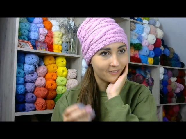 Шапки онлайн Выпуск 7 Часть 2 Сшивание горизонтальной шапки швом петля в петлю Прямой эфир Instagram