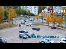 Видео момента столкновения автомобилей у Окея. ДТП в Кингисеппе с веб-камеры KING...