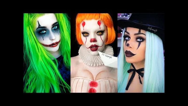 INCREÍBLES MAQUILLAJES PARA HALLOWEEN - Edición PAYASOS / Clown Halloween Make Up Tutorial 2017