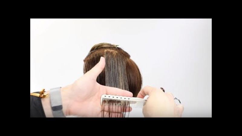 Haircut Tutorial: Short layered Haircut techniques with Razor - Hairbrained