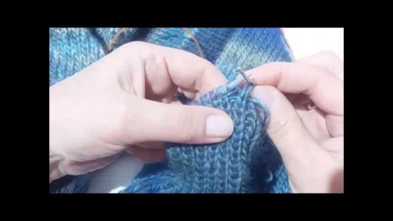Как закрыть резинку 1х1 иглой Эластичный край резинки