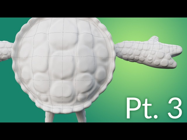 CGC Classic: Creating a Cartoon Turtle Pt. 3 - Adding Detail (Blender 2.6)