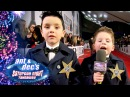 Little Ant Dec Meet One Direction at Brit Awards 2014 - Saturday Night Takeaway