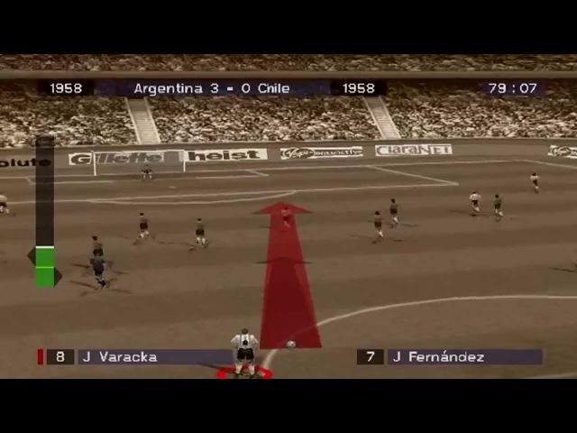 Viva Football Gameplay Historical match 1958 (PlayStation,PSX)