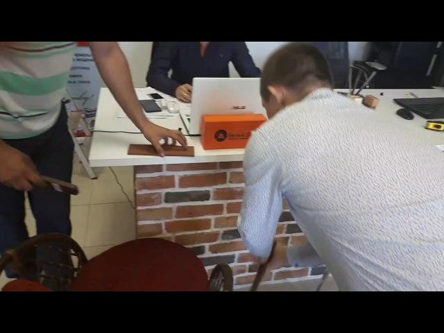 Процедура разделение клинкерной немецкой плитки по шву