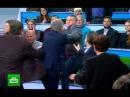 Ведущий НТВ и украинский политолог подрались в прямом эфире 22.02.2018