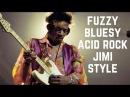 Bluesy Acid Rock Hendrix Style Fuzzy Guitar Backing Track in D Major