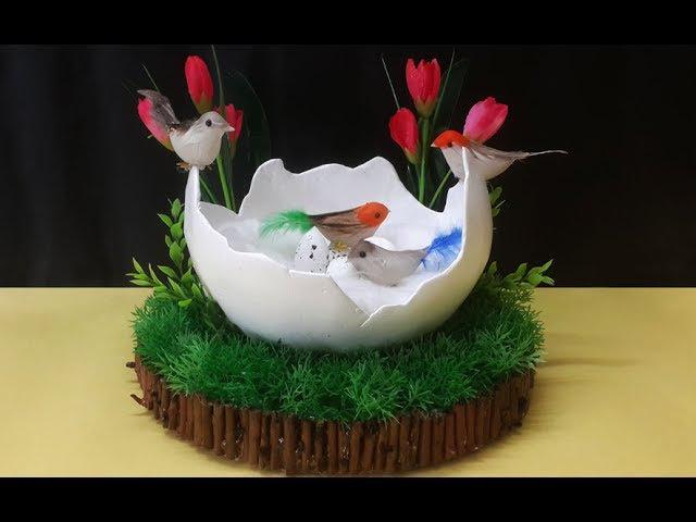 How to Make Birds Nest Craft Using Newspaper | DIY Birds Nest Home Décor Craft | Paper Nest