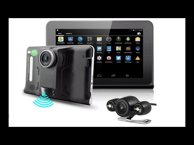 Автопланшет DVR FC-950 с навигатором обзор / Автомобильный планшет с регистратором купить