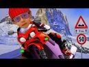 МОТО ИСПЫТАНИЯ на Зимней Трассе с Препятствиями СУПЕР МОТО ЭКСТРИМ игровое виде