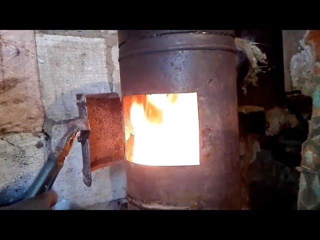 Печь-котел из газового баллона