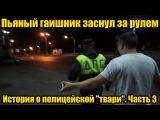 Пьяный гаишник заснул за рулем | История о полицейской
