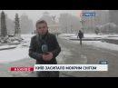 Київ засипало мокрим снігом