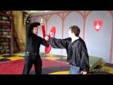 3 leverage to shield and sword (рычаги щитом и мечом).