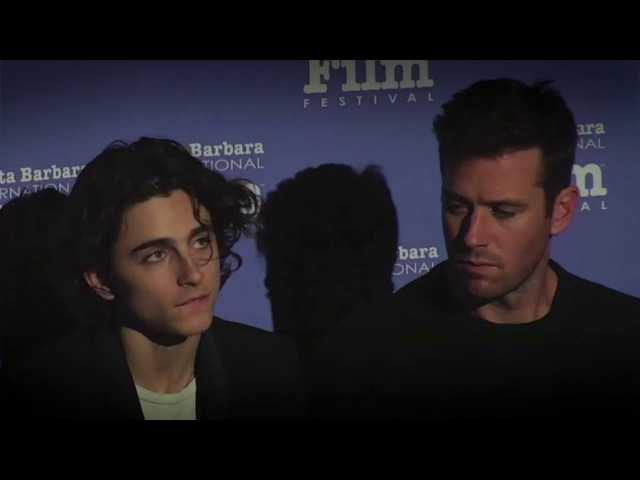 Is it a video Armie Hammer Timothee Chalamet Q A SBIFF Cinema Society