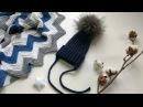 МК детская шапочка-тыковка резинкой с помпоном