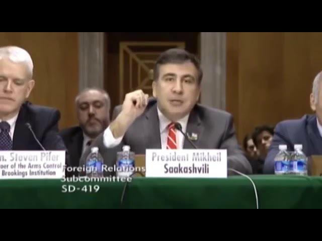 Михаил Саакашвили и Гарри Каспаров. Обсуждение в Сенате США военной помощи Укра ...