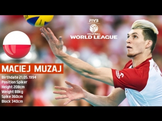 TOP 10 Crazy Volleyball Actions by Maciej Muzaj - FIVB World League 2017