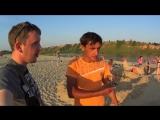 Ватага ТВ _ Пляжный Архитектор _ Скульптуры из песка на пляже в Павлово (1)