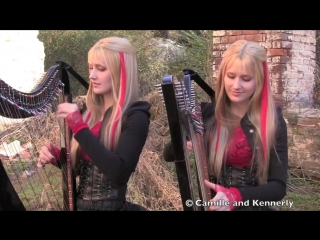 IRON MAIDEN - Fear of the Dark - Harp Twins (Camille and Kennerly) HARP METAL.mp4