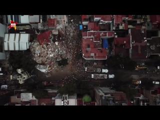 Мехико после землетрясения - вид сверху