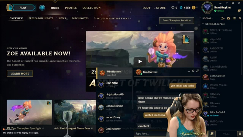 Don't be cocky she says MF @ League of Legends