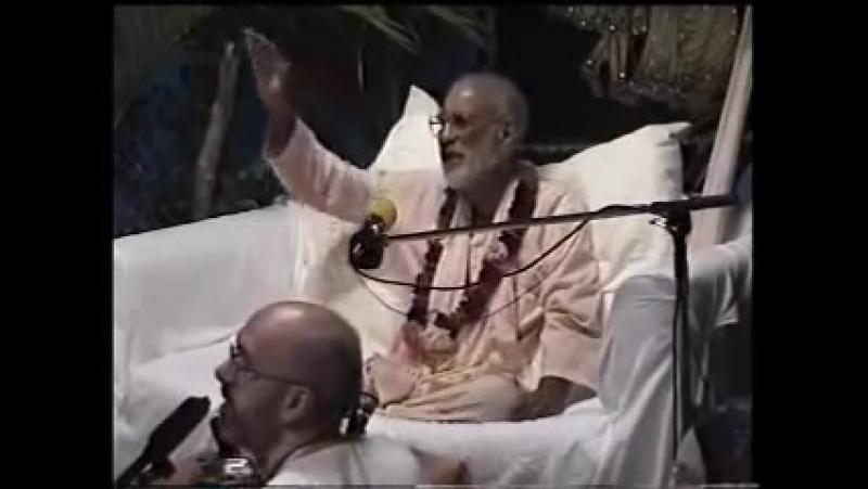 Шрила Бхактиведанта Нараяна Госвами Махарадж Радха Кришна таттва и Чайтанья таттва 31 12 1998 Мервиламба