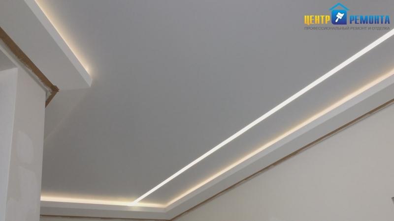 Центр ремонта. Световые линии на потолке. Оренбург/Поляничко 12