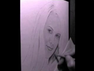 Создание портрета от начала и до конца в ускоренной съёмке)