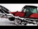 Расчистка снега. Гусеничным трактором беларус МТЗ 1502