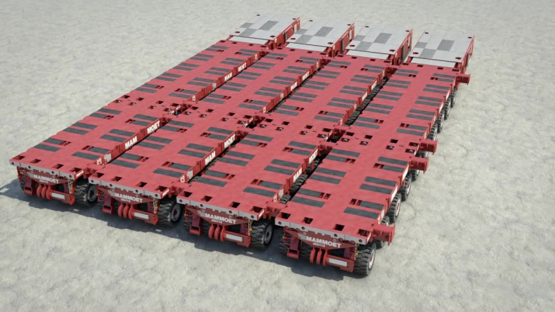 Mammoet Self-Propelled Modular Transporter (SPMT)