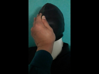 Crossdresser ozlem calik in straitjacket bondage