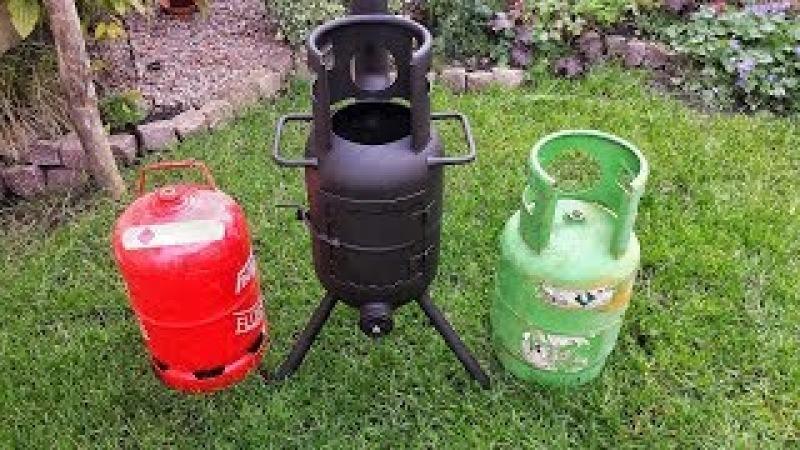 🔥 Terrassenofen aus Gasflasche selber bauen Outdoor Ofen Feuertonne
