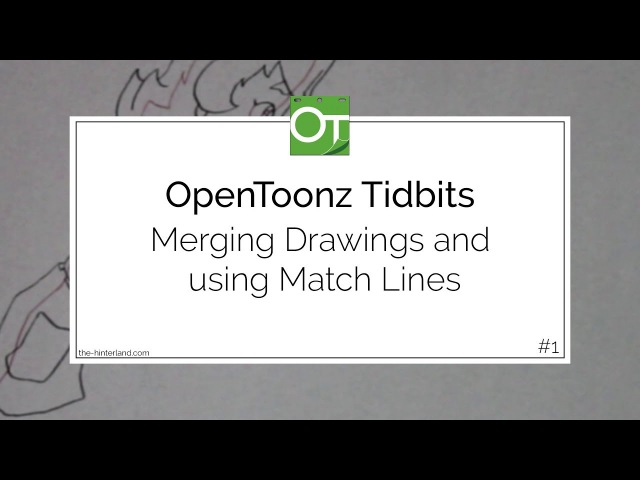 OpenToonz Tidbits 1: Merging Drawings and using Match Lines