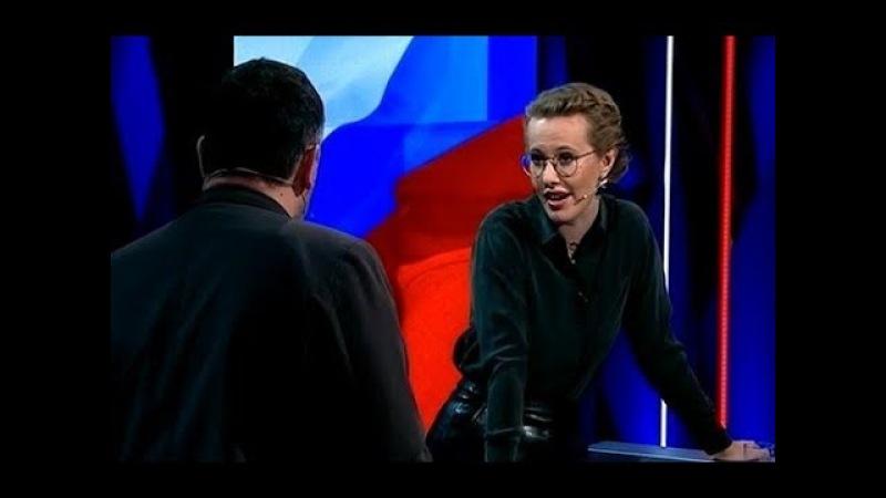 Студия в ШОКЕ от выходки Собчак! Пришла и облила грязью кандидата Грудинина! Дно ПРОБИТО!