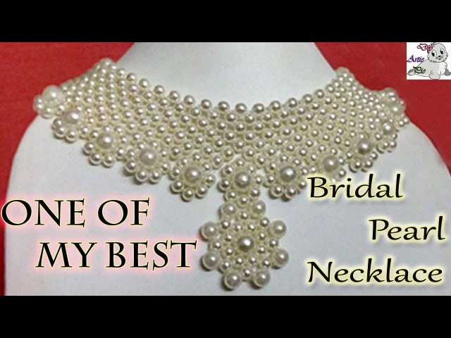20 How to Make Pearl Beaded Bridal Necklace || Diy || Jewellery Making