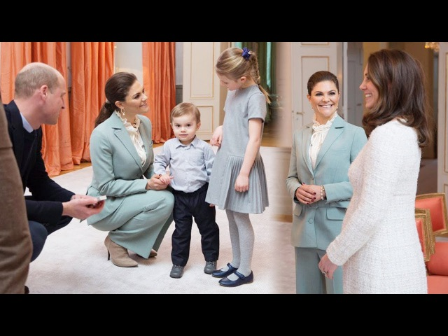 Kate William meet the Swedish royals' adorable children at Haga Palace