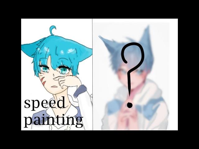[노넴] 테일즈런너 시호 옛날그림 리메이크 스피드페인팅[speedpaint sai スピードペ12