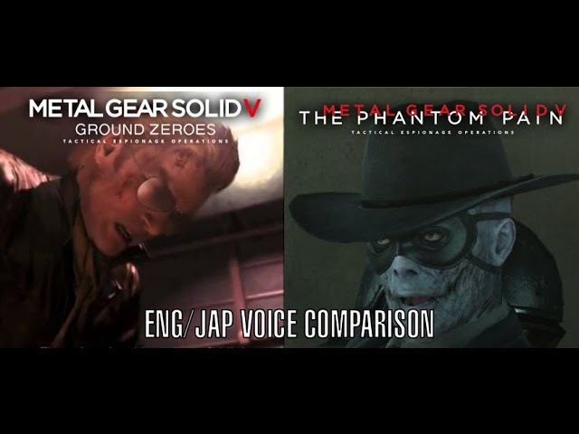 MGSV - They Played Us Like A Damn Fiddle and Such a Lust for Revenge ENG/JAP Voice Comparison