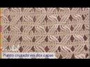 Punto cruzado en 2 capas tejido a crochet Tejiendo Perú