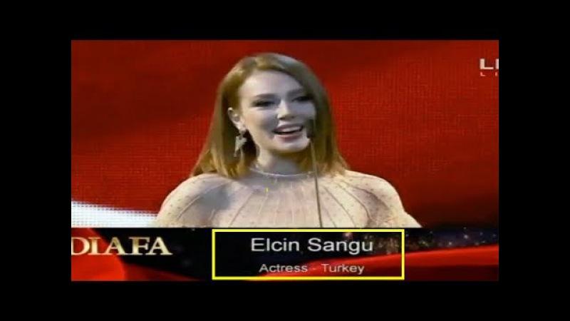 Elçin Sangu 2018 DİAFA Ödül Töreni DUBAİ