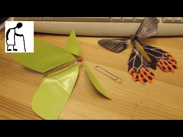 Can I make a Rubber Band Powered Fluttering Butterfly toy?