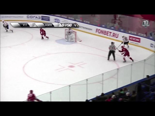 Моменты из матчей КХЛ сезона 16/17 • Гол. 3:4. Вячеслав Литовченко (Амур) принёс гостям два очка 27.11