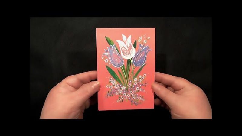 Speed Painting | Tulips Greeting Card | Gouache | IOTN