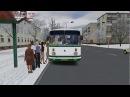 Omsi 2. Омнинск 1.0, маршрут 106, обратный рейс, автобус ЛАЗ695НГ