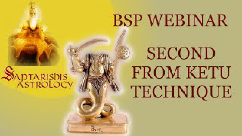 BSP - 2nd from Ketu Technique - Saptarishi s Bhrighu Astrology Free Webinar - 12 Mar 2015