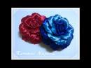 МК Необычная объемная роза из атласной ленты 12 5 см volumetric rose rosa volumétrico