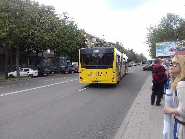 Поездка на автобусе МАЗ-215 , гос.№ АН 8912-7