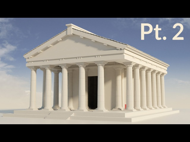 CGC Classic: Modeling a Temple Pt. 2 (Blender 2.6)